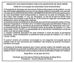 Edital publicado no dia 02/04/2014, página A3 do Jornal O Popular.
